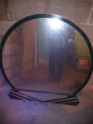 Heavy Mirror with Black & Gold trim for Sale in Bartonville, IL