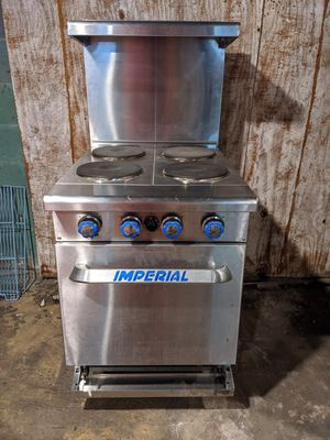"LIKE NEW EQUIPMENT Imerial 24"" Commercial Electric Range Stove + 59"" Refrigerated Countertop w Dividers READ for Sale in Doylestown, OH"