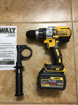 DEWALT DCD996 20-Volt MAX XR Lithium-Ion Cordless 1/2 in. Premium Brushless Hammer Drill + 1 Flexvolt battery 6.0 ( No charger ) for Sale in Phoenix, AZ