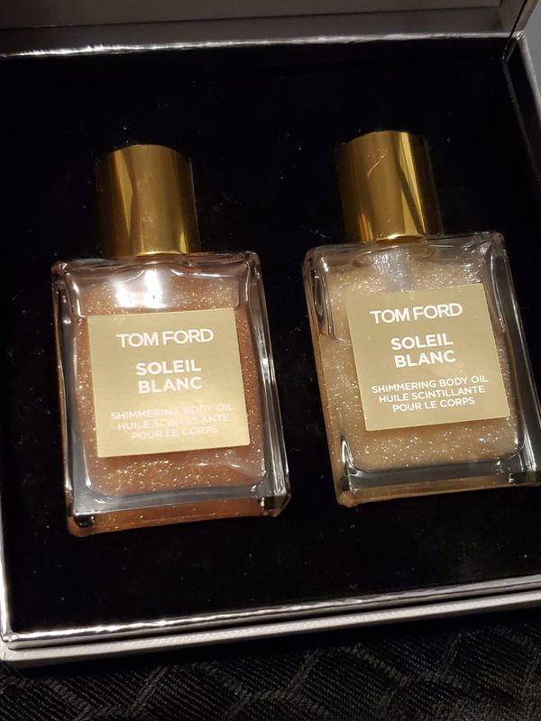 Tom ford soleil blanc shimmering body oil set