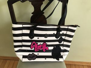 New Betsey Johnson designer zippered tote bag for Sale, used for sale  Brooklyn, NY