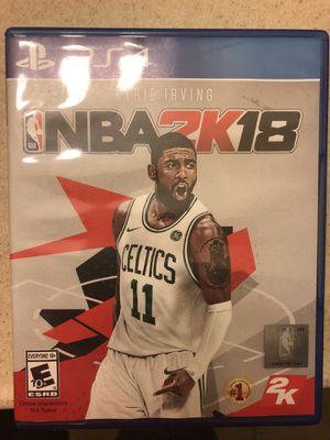 NBA 2K18 PS4 for Sale in Lakeland, FL