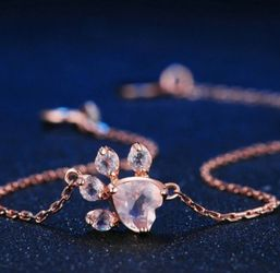 Rose Gold Pink Paw Bracelet for Sale in Wichita,  KS