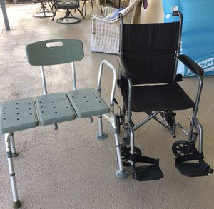 Travel wheel chair - Tub/Shower chair for Sale in West Palm Beach, FL