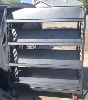 DOUBLE SIDED ROLLING METAL BOOK SHELVES for Sale in Tucson, AZ