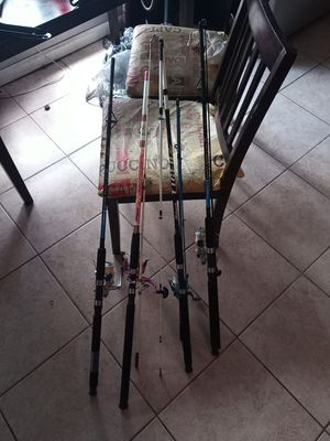 4 fishing rod+reel combo Shakespeare for Sale in Paterson, NJ