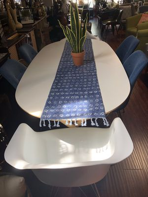 Dining table 4 blue chairs for Sale in San Jose, CA