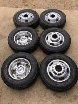 "Like new Ford Super Duty F350 Rims And Michelin tires 17"" 17 Wheels F 350 Dually F-350 dully Rines y Llantas Oem factory's factory original Take offs for Sale in Dallas, TX"