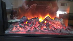 Electric Fireplace with Oak Hearth for Sale in Ocean Shores, WA