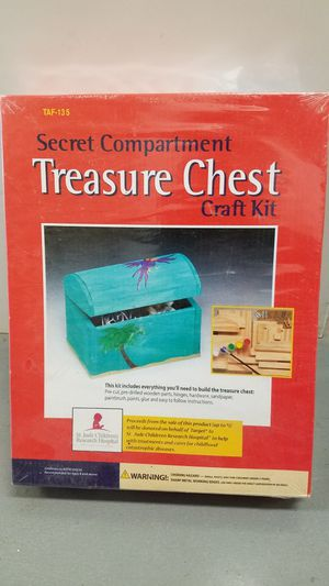 Wooden craft kit - treasure chest for Sale in Simsbury, CT