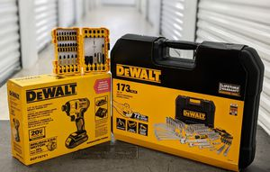 DeWalt impact drill kit , drill bit kit and tool sets for Sale in Houston, TX