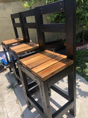 Bar chairs (wood) for Sale in Lynwood, CA