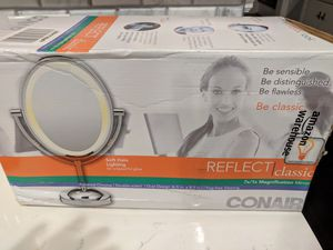 Conair Double-Sided Lighted Makeup Mirror - Lighted Vanity Mirror; 1x/7x magnification; Polished Chrome Finish for Sale in Queens, NY