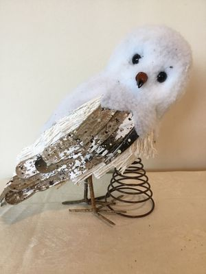 Pottery Barn Arctic Snowy White Owl Hedwig Christmas tree topper for Sale in Berlin, MD