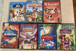 Disney Kids DVDs and a blu ray for Sale in Raleigh, NC