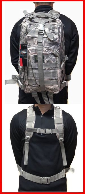 NEW! Camouflage actical Military Style Backpack gym bag work bag travel luggage school bag molle camping hiking biking for Sale in Carson, CA