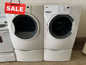 🚀🚀🚀Delivery Available Washer Electric Dryer Set Kenmore Front Load #1436🚀🚀🚀 for Sale in Pasadena, MD