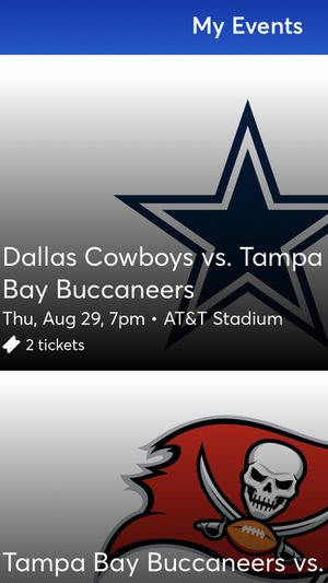 Dallas Cowboys be Tampa Bay Buccaneers Tickets for Sale in St. Petersburg, FL