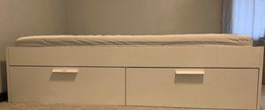 Queen storage bed - Black color for Sale in Burnsville, MN
