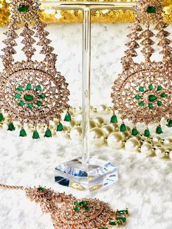 Jewelry American Diamond Tikka Set for Sale in Alexandria,  VA