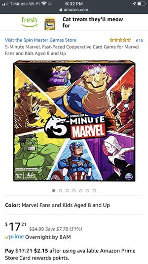 5 minute marvel game for Sale in Phoenix, AZ