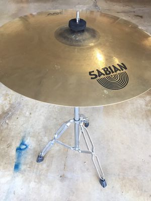 """Sabian AAX Raw Bell Dry Ride 21"""" Cymbal + Stand for Sale in Garland, TX"""
