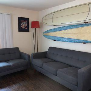 Blue/Gray Sofa Sleeper Set : Couch/Loveseat for Sale in Huntington Beach, CA