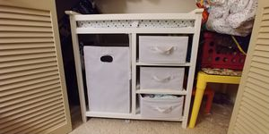 Badger basket changing table with storage and hamper for Sale in Summerfield, NC
