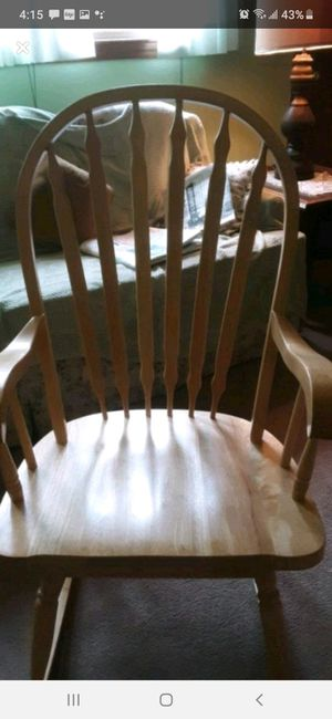 Antique white oak rocking chair for Sale in Southbridge, MA