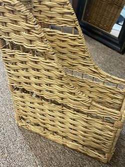 Wicker Rattan Boho Magazine Holder for Sale in Tacoma,  WA