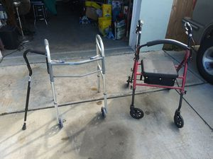 Free walkers and cane for elderly or veteran for Sale in Tarpon Springs, FL