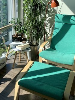Armchair + Ottoman (Ikea POANG) for Sale in Bellevue,  WA