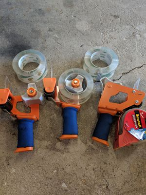 Tape guns with tape for Sale in Freeport, IL