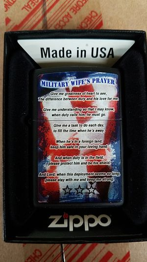Zippo military wife prayer black matte 28315 for Sale in Los Angeles, CA
