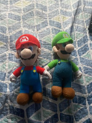Mario and Luigi plushy for Sale in Herndon, VA