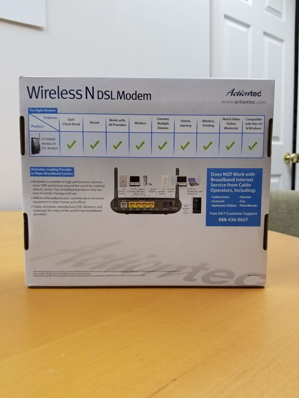 Actiontec Wireless N DSL Modem