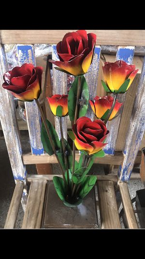 Wrought Iron Colorful Flowers $29 for Sale in Austin, TX