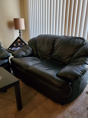 Black Leather Couch and Sofa for Sale in Irvine, CA