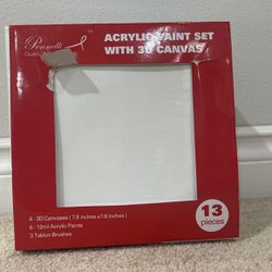 Acrylic Paint Set With 3D Canvas for Sale in Bothell,  WA