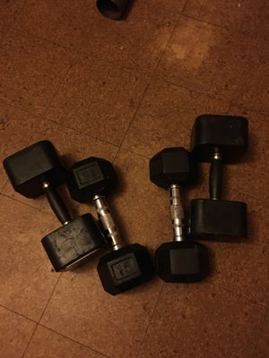 Two 15s and two 25s dumbbells for Sale in Rocky Mount, NC