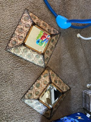 Cute metal and mirror wall decor for Sale in Hemet, CA