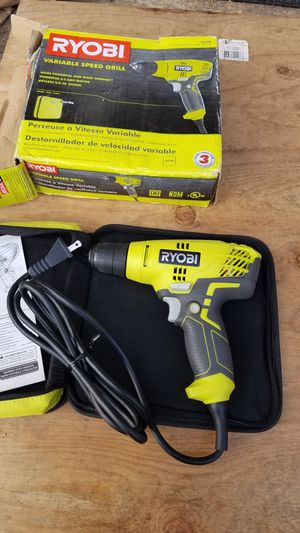 Ryobi 5.5 Amp Corded 3/8 in. Variable Speed Compact Drill/Driver with Bag New for Sale in Snohomish, WA