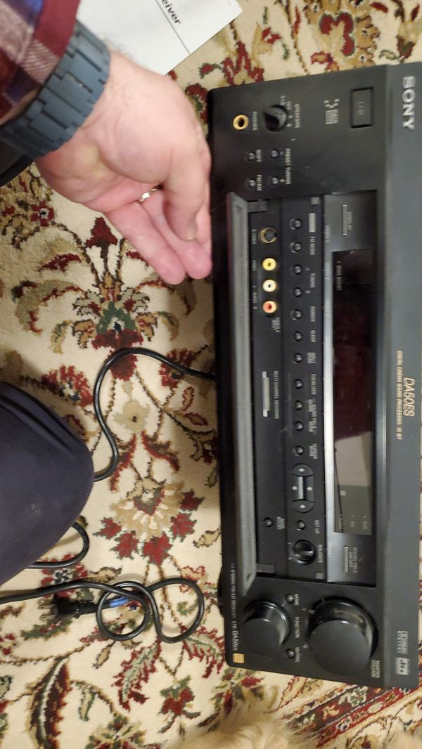 Sony stereo receive and manual DA50ES