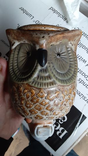Owl lamp and wax burner for Sale in Hoquiam, WA