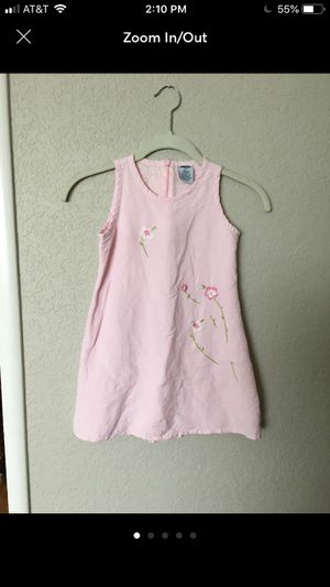 Old Navy kids pink linen dress, size 6/7 for Sale in Belmont, CA