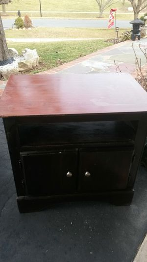 Solid cherry wood TV stand for Sale in Silver Spring, MD