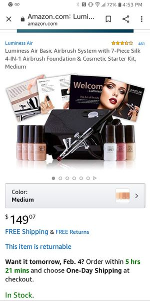 Luminess air brush makeup set for Sale in East Greenville, PA