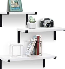 White Storage Shelves for Wall Home Decor Set Of 3 for Sale in Los Angeles,  CA