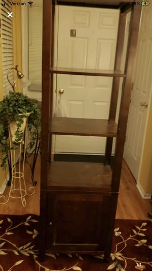 68 inch wood storage tower for Sale in Howell Township, NJ