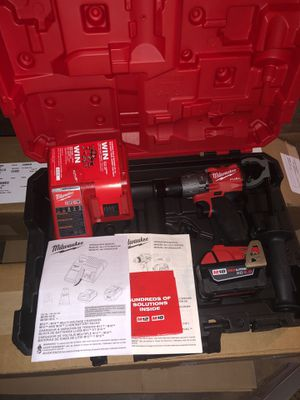 Milwaukee M18 2804-20 FUEL 18V 1/2in Hammer Drill Driver One Battery 48-11-1850 and charger for Sale in Sugar Land, TX